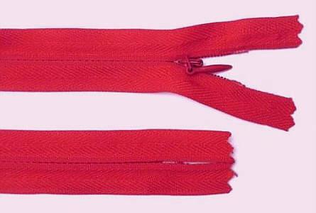 Reißverschluss rot, 3mm, 12cm lang