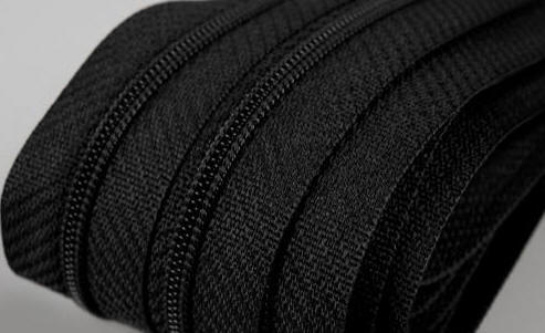 3mm 12cm  Reißverschluss schwarz,