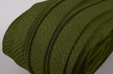 Reißverschluss dunkel-grün, 3mm, 50cm
