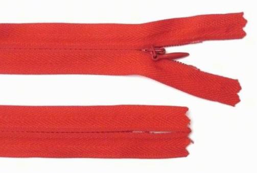 Reißverschluss rot, 3mm, 60cm