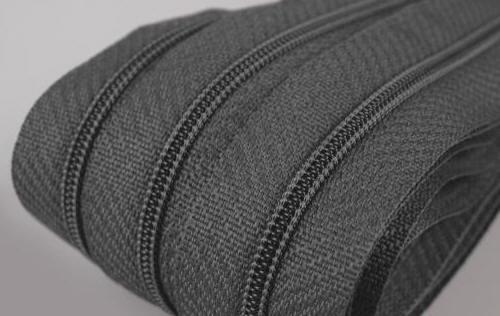 Reißverschluss grau, 3mm, 60cm
