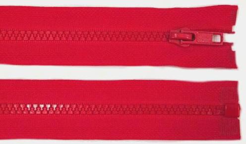 5mm 100cm Reißverschluss rot Kunststoff