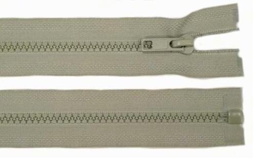 Reißverschluss hell-grau Kunststoff 5mm 60cm