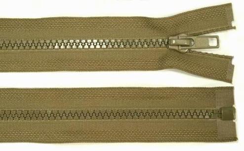 5mm 100cm Reißverschluss khaki Kunststoff