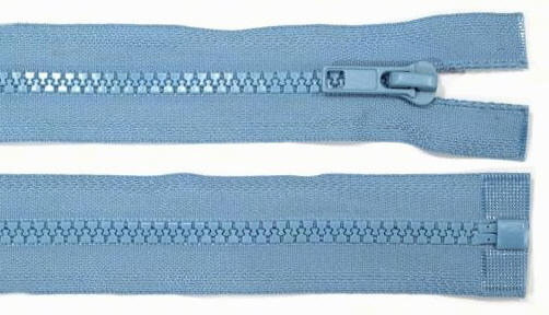 5mm 100cm Reißverschluss blau Kunststoff
