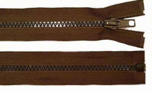 5mm 100cm Reißverschluss dunkel-braun Kunststoff