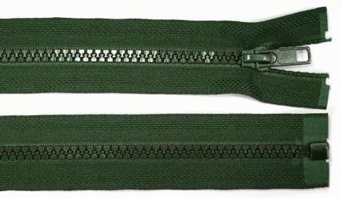5mm 100cm Reißverschluss dunkel-grün Kunststoff