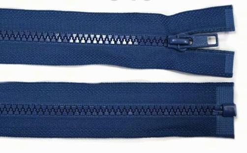 5mm 100cm Reißverschluss royal-blau Kunststoff