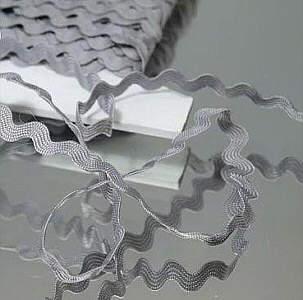Zackenlitze 6mm Silbergrau