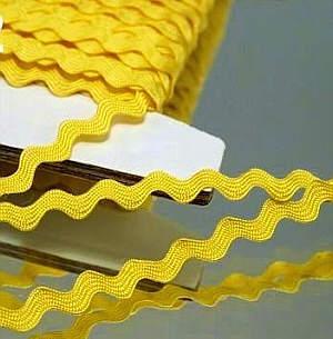 Zackenlitze 6mm Gelb