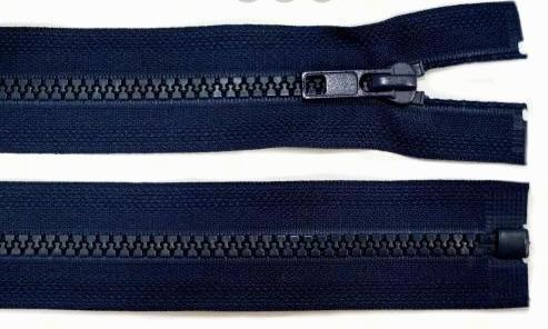 Reißverschluss dunkel-blau Kunststoff 5mm 50cm