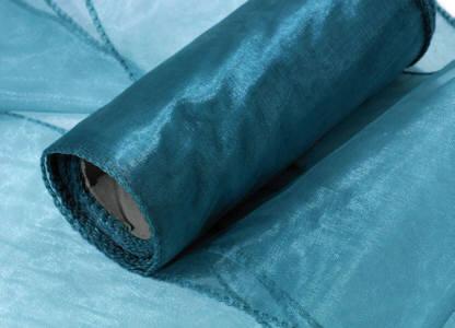 Organza Band 15 cm breit 9m lang türkis