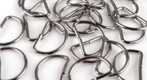 4 Stück D-Ring Nickel glänzend 3 cm Drahtdicke 3mm