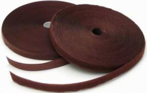 1 Meter Klettverschlussband 2cm breit, braun