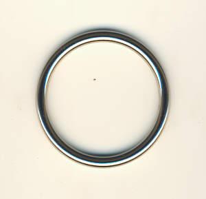 Metallring Nickel glänzend 40 mm