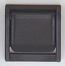 Kunststoff-Spannschnalle schwarz 30 mm verstellbar