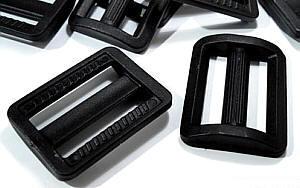 Verstellschnalle 4cm / 40 mm in Kunststoff schwarz
