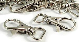4 Stück Karabinerhaken 12 mm Nickel glänzend