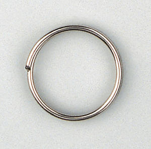 5 Schlüsselringe 20 mm Nickel / Silber glänzend