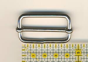 Schiebeschnalle innen 25 mm hoch 40mm breit Nickel glänzend