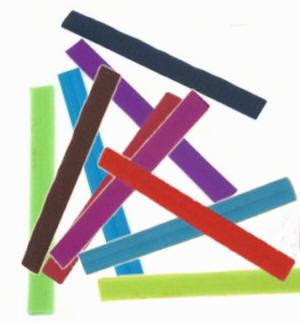25 Stück Klettverschlussband Farbenmix 2cm breit 10 Farben