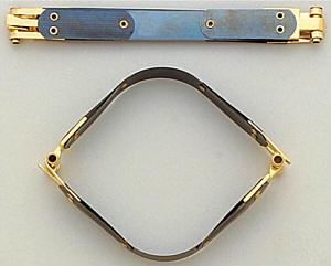 Schnappverschluss 25 cm / Federverschluss für Taschen / Beutel