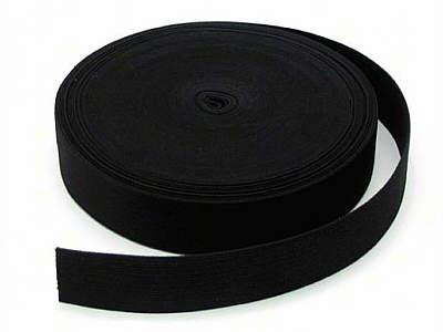 25 Meter-Rolle Gurtband 3,8-4 cm/ 38 - 40 mm Baumwolle schwarz