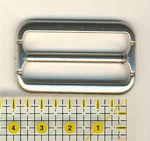 Schnalle Innenweite 3,5 cm Nickel matt