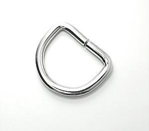 D-Ring Nickel / Silber glänzend 25mm