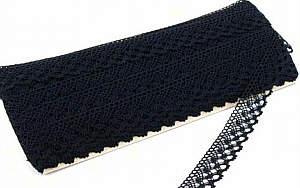 Klöppelspitze schwarz  21 mm