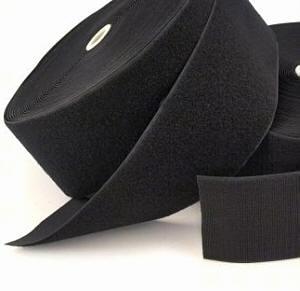 0,5 m Klettband schwarz 10 cm / 100 mm Flausch+Haken komplett