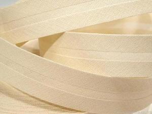 Schrägband creme uni 20 mm 100% Baumwolle beige