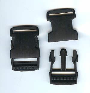 Gurtverschluss schwarz 3,0 cm / 30mm Kunststoff