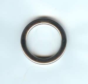 Taschenring rund 30mm Nickel glänzend