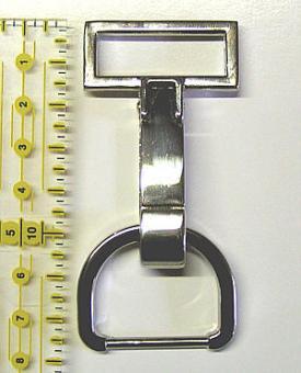 Taschenverschluss 8 / 3 cm Nickel Glänzend