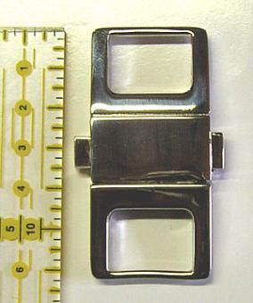 Taschenverschluss 2-teilig Nickel glänzend - sehr stabil