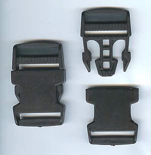 Gurtverschluss schwarz 3,5 cm Kunststoff