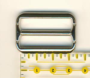 Schnalle 3 cm / 30 mm Nickel glänzend