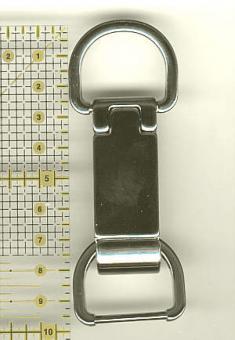 Taschenverschluss 10 cm Nickel glänzend