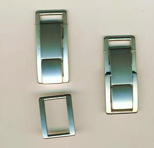 Taschenverschluss 2-teilig Nickel matt