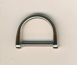 Halbring Nickel glänzend 2,5 cm