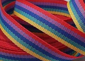 4 Meter Gurtband Regenbogen 4cm / 40 mm breit