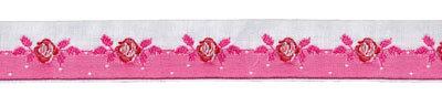 Schmuckband Rosenranke pink/weiß