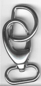 Set Karabinerhaken/D-Ring  2,5 cm Nickel matt