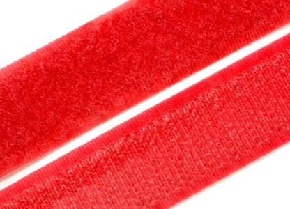 1 Meter Klettverschlussband 20mm breit, rot