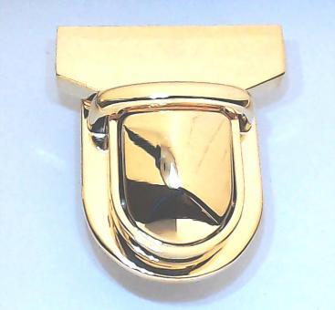 Steckschloss für Taschen 44 mm Gold