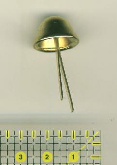 4 Bodennägel Messing glänzend 12 mm hoch