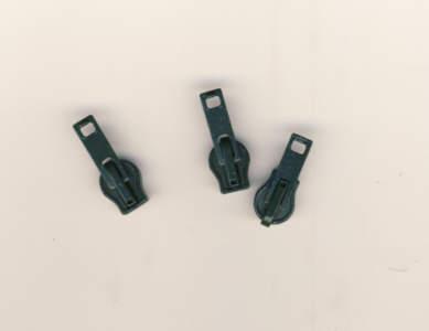 Reissverschluss Schieber grün für 6mm