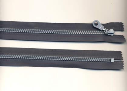 Reißverschluss grau Kunststoff 5mm 45cm