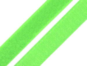 1 Meter Klettverschlussband 2cm breit, Klettband neon grün